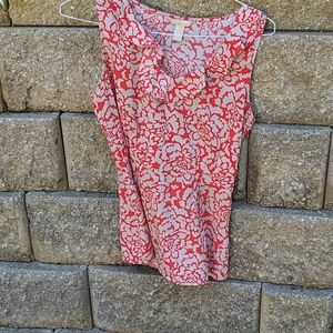 Red and grey banana republic top